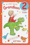 Grandson Age 2 Birthday Card